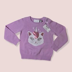 2/$25 The Children's Place Kitty-corn Sweater